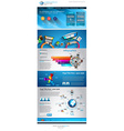 Flat Style Website Template - Elegant Design for vector image vector image