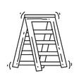 gardening ladder stair icon hand drawn icon vector image vector image