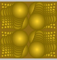 golden abstract tile with op-art spheres 3d vector image