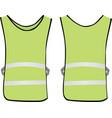 green reflective vest vector image vector image
