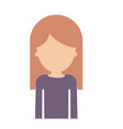 half body faceless woman with long straight hair vector image vector image