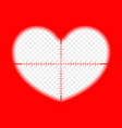 heart with a target the goal of love vector image