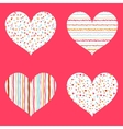 Hearts seamless pattern bright collection vector image vector image