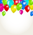 Holiday background with multicolor balloons vector image vector image