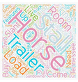 How to Buy a Horse Trailer text background vector image vector image