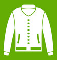 jacket icon green vector image vector image