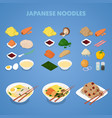 japanese noodles asian thai chinese food vector image vector image