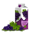 Juice pack grape vector image vector image