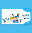 landing page concept back to school online vector image vector image