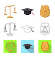 law and lawyer icon vector image