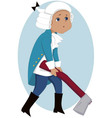 Little Washington vector image