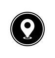 location mark round glyph icon gps pointer mark vector image