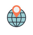 location on globe icon vector image vector image
