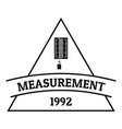 measurement logo simple black style vector image vector image