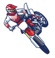 motocross rider doing jumping whip trick vector image vector image
