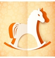 Orange cutout paper horse vector image vector image