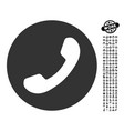 phone number icon with job bonus vector image vector image