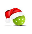 pickleball with santa hat vector image vector image