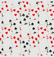 playing cards seamless pattern card deck repeated vector image