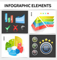 realistic infographic square concept vector image