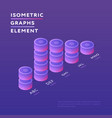 round towers in design isometric graph vector image vector image