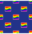 Seamless background with Rainbow flag vector image vector image