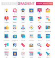 set of trendy flat gradient digital vector image