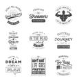 set vintage motivation typographic quotes vector image