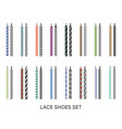 shoelaces modern colored pairs collection vector image vector image