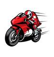 sportbike racer vector image vector image