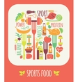 Sports Food vector image
