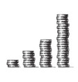 stacks coins concept economic growth vector image vector image