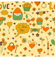 Stylish romantic seamless pattern in on a beige vector image vector image