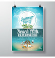 Summer Beach Party Flyer Design with palms vector image vector image