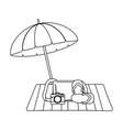 summer vacation relax cartoon vector image