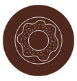 sweet donuts isolated icon vector image vector image