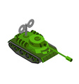 Toy Tank Isometric on white background Military vector image