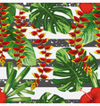 tropical seamless pattern stripe background vector image vector image