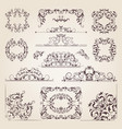 vintage old banners swirls corners and different vector image
