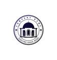 vintage retro islamic mosque logo design vector image