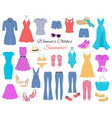 women clothes collection vector image vector image