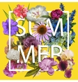 Floral and summer Graphic Design vector image
