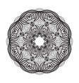 crazy mandala template for coloring book vector image