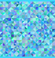 abstract background triangles blue green scale vector image