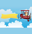 airplane carrying banner vector image vector image
