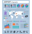Airport Business Infographic Set vector image vector image