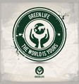 alternative green life stamp vector image vector image