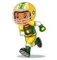 american football player boy running with holding vector image