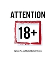 Attention 18 Red Rectangle Eighteen Stop Sign vector image vector image