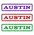 austin watermark stamp vector image vector image